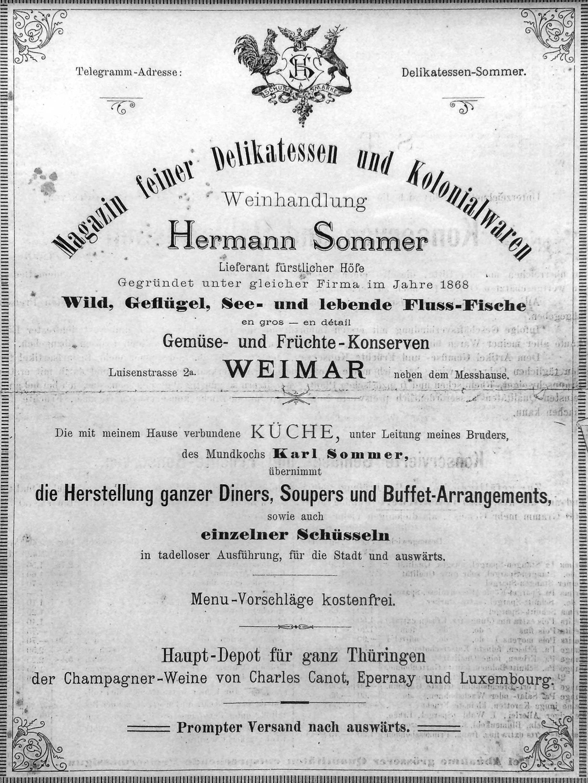 Vom ›Sommer's‹ Zur Weinbar Weimar