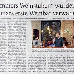 Unsere Erste Presse: Die Weinbar In DerTA
