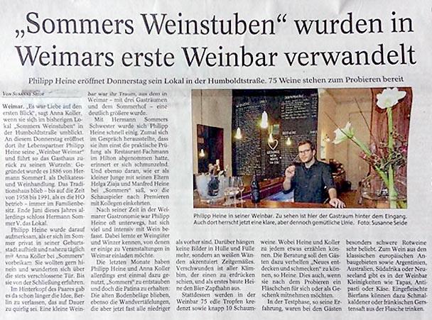 Unsere Erste Presse: Die Weinbar In Der TA