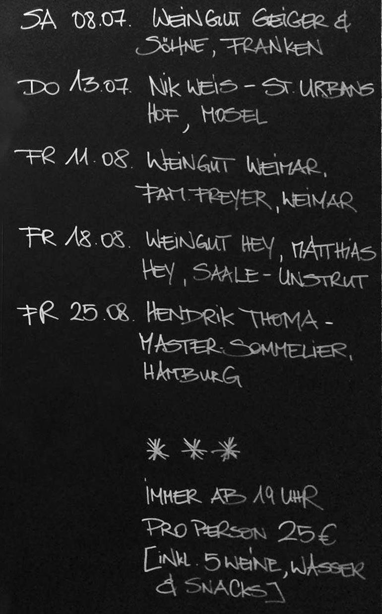 Neu: Veranstaltungen In Der Weinbar