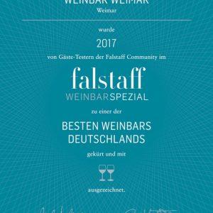 Falstaff 2017: »eine Der Besten Weinbars Deutschlands«